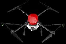 E410 dört eksenli tarımsal sprey drone 10L çerçeve 1300mm dingil mesafesi 10L püskürtme sistemi + X8 / E5000 güç tedarik