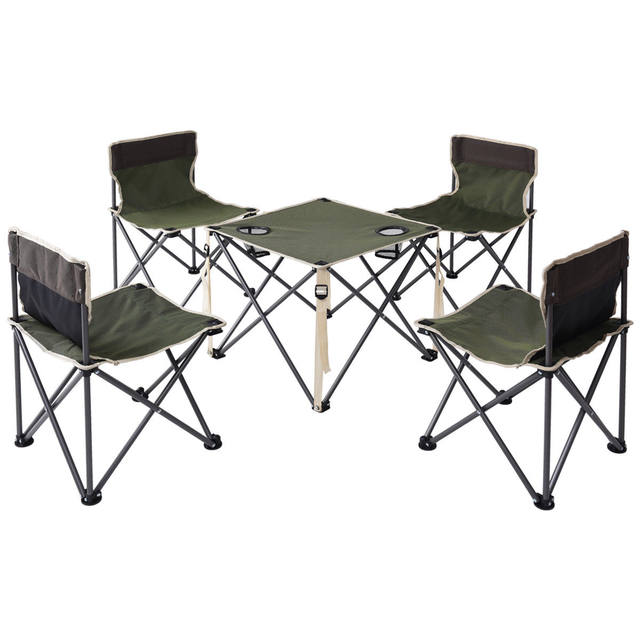 Giantex Portable Outdoor Folding Table Chairs Set Camping Beach Picnic With Carrying Bag Furniture Op3381gn