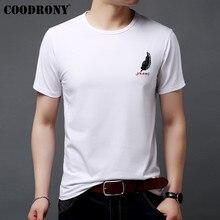 COODRONY Brand T Shirt Men Summer Short Sleeve T-Shirt Streetwear Fashion Tshirt Casual O-Neck Cotton Tee Homme S95078