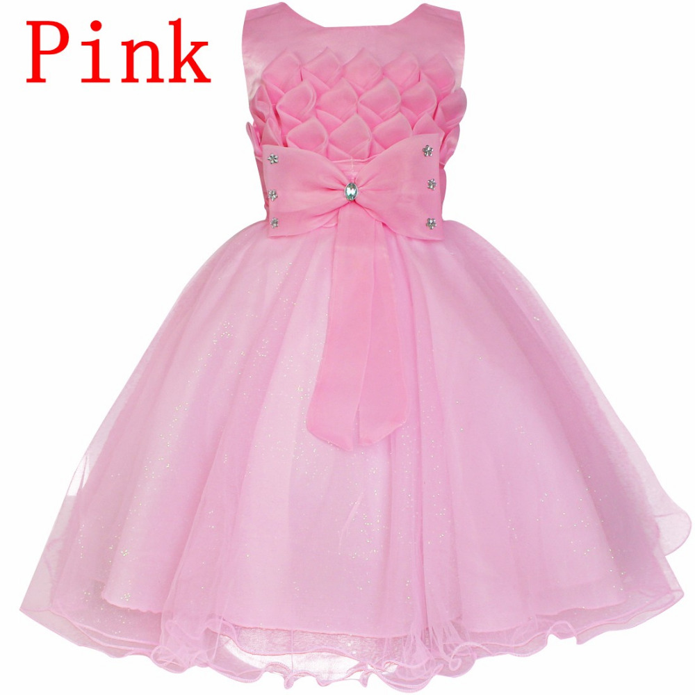 Online get cheap bridesmaid dresses kids pink aliexpress new summer pink children dresses for girls kids formal wear princess bridesmaid cloth for baby girl ombrellifo Images