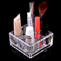 9 Grids Lipstick Rack Holder Display Stand Clear Acrylic Storage Box Organizer Makeup Cosmetic Case
