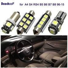 25 шт автомобиля светодиодный лампы для Audi A4 S4 RS4 B5 B6 B7 B8 96-15 Canbus ОШИБОК светодиодный Подсветка салона Купол Карта верхний свет комплект