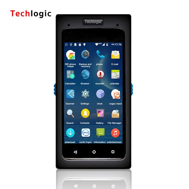 Techlogic Беспроводной терминала данных сканера штриховых кодов Android полный экран, сканер штрих-кода Ручной считывания штрих-кодов PDA штрих-код ...