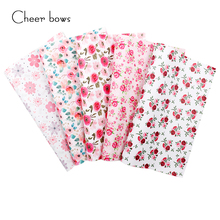 Garment-Bags Sewing Hairbows-Accessories Flowers Fabric Vinyl Faux Printed Artificial-Synthetic-Leather