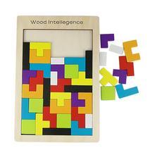Смешные деревянные игрушки игра в голову тетрис-головоломки игрушки для детей J6132