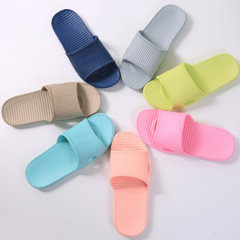 THINKTHENDO USA  Size 7.5 To 11 New Men's Comfortable Indoor Home Slip-on Slipper Bath Shower Flip-Flops