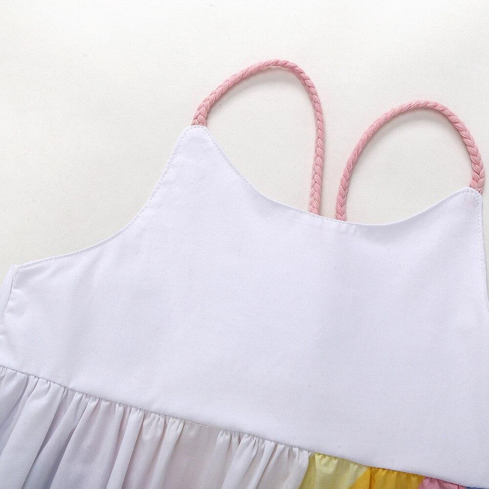 HIBYHOBY Summer Girl Sleeveless Rainbow Wydrukowana sukienka - Ubrania dziecięce - Zdjęcie 4
