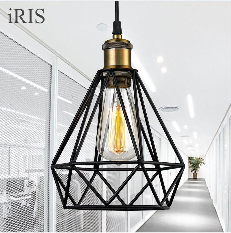 ФОТО Edison light Pendant Loft Retro Industrial Iron Vintage Pendant Lamp Fixture LED E27