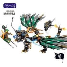 Building Blocks Bricks Ninjagoes Thunder Lightening Flying Pirate Zane's Dragon Toys Children Gift For Kids SY554