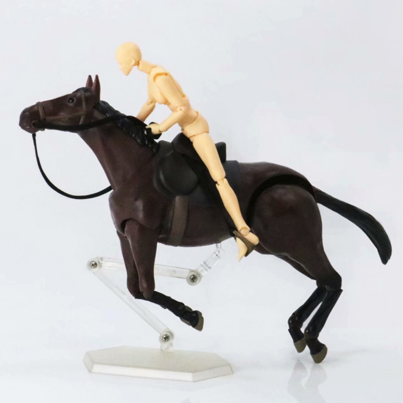 Anime Horse White/Chestnut Variant Action Figure Figma 246# Movable Ver Model PVC Toys 15cm anime action figure toys artist movable limbs male female 15cm joint body model mannequin art sketch draw kawaii action figures