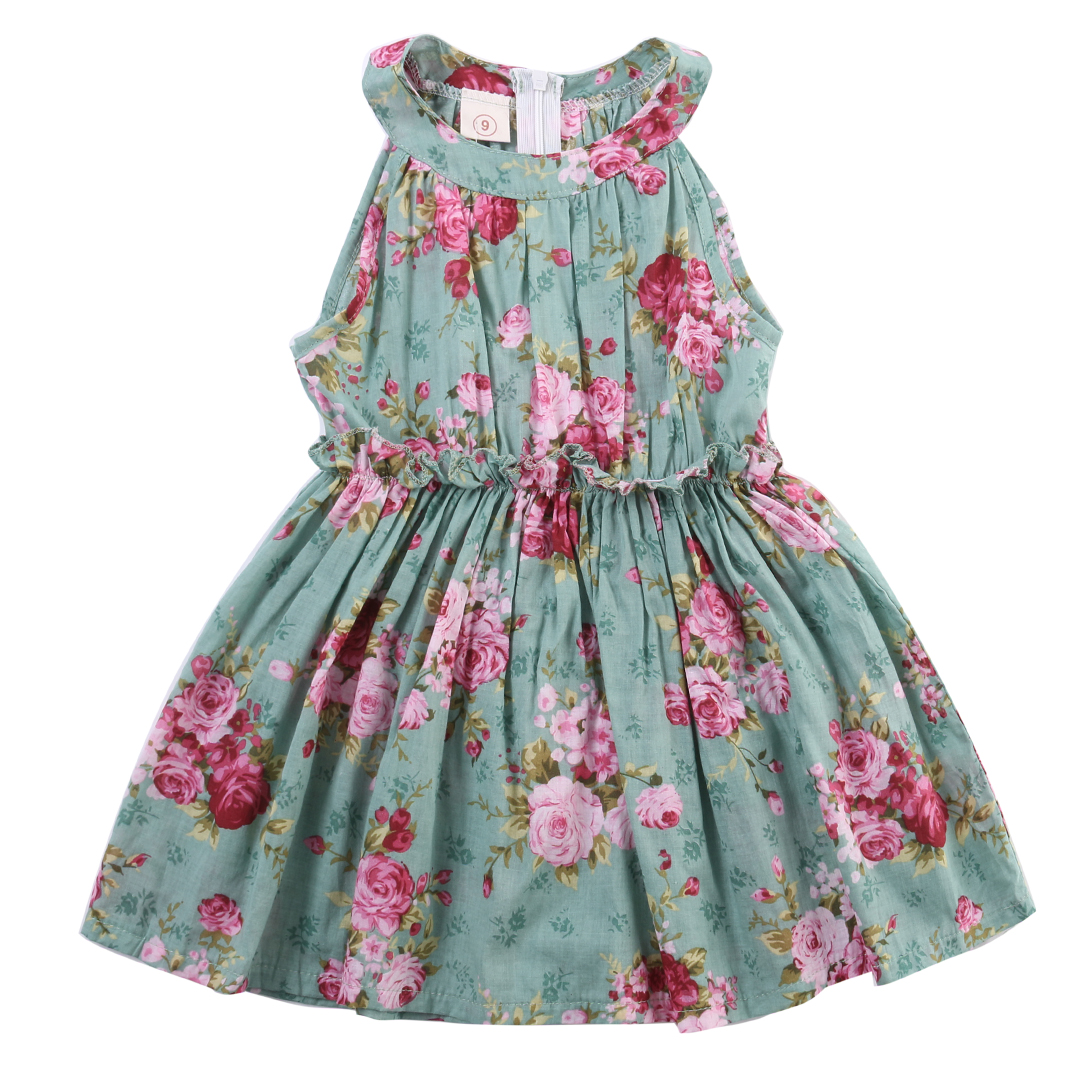 Princess Dress Kids Baby Girls Party Wedding Pageant Dresses Flower Sleeveless Tutu Dress Outfits
