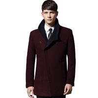 2018 Mens Winter Wool Coat For Men Slim Fit Fashion Jackets Mens Casual Warm Outerwear Jacket