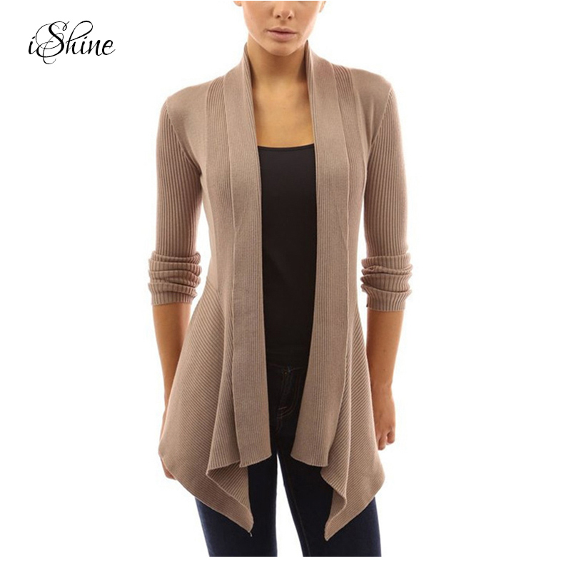 Autumn Winter Women Knitted Sweaters Solid Irregular Length Warm Cape Poncho Elegant Ladies Jackets Cardigans 2017 Long Sleeves