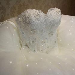 Fansmile 2019 Elegant Luxury Lace Wedding Dress Vintage Ball Gowns Vestido De Noiva Plus Size Customized FSM-502F 1