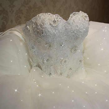 Fansmile 2019 Elegant Luxury Lace Wedding Dress Vintage Ball Gowns Vestido De Noiva Plus Size Customized FSM-502F - DISCOUNT ITEM  30% OFF All Category