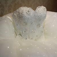 Fansmile 2019 Elegant Luxury Lace Wedding Dress Vintage Ball Gowns Vestido De Noiva Plus Size Customized FSM 502F