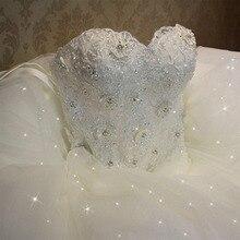 Fansmile 2020 Elegant Luxury Lace Wedding Dress Vintage Ball Gowns Vestido De Noiva Plus Size Customized FSM 502F