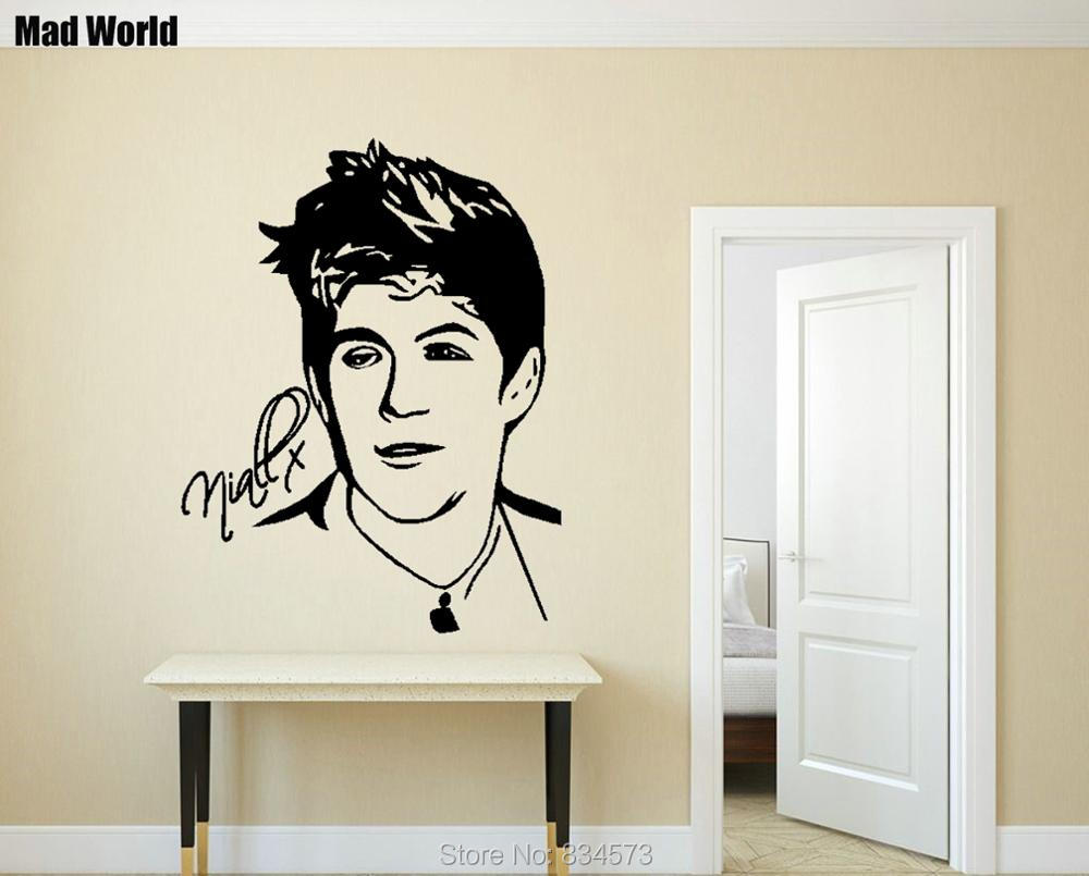 Mad world one direction 1d celebrity silhouette wall art stickers one direction niall horan 57 74h 2 amipublicfo Image collections