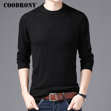 COODRONY Brand Sweater Men O-Neck Pull Homme Autumn Winter 100% Pure Merino Wool Sweaters Soft Warm Cashmere Pullover Men 93001 coodrony brand sweater men 100