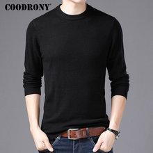 Coodrony marca suéter masculino o pescoço puxar homme outono inverno 100% puro lã merino suéteres macio quente cashmere pulôver masculino 93001
