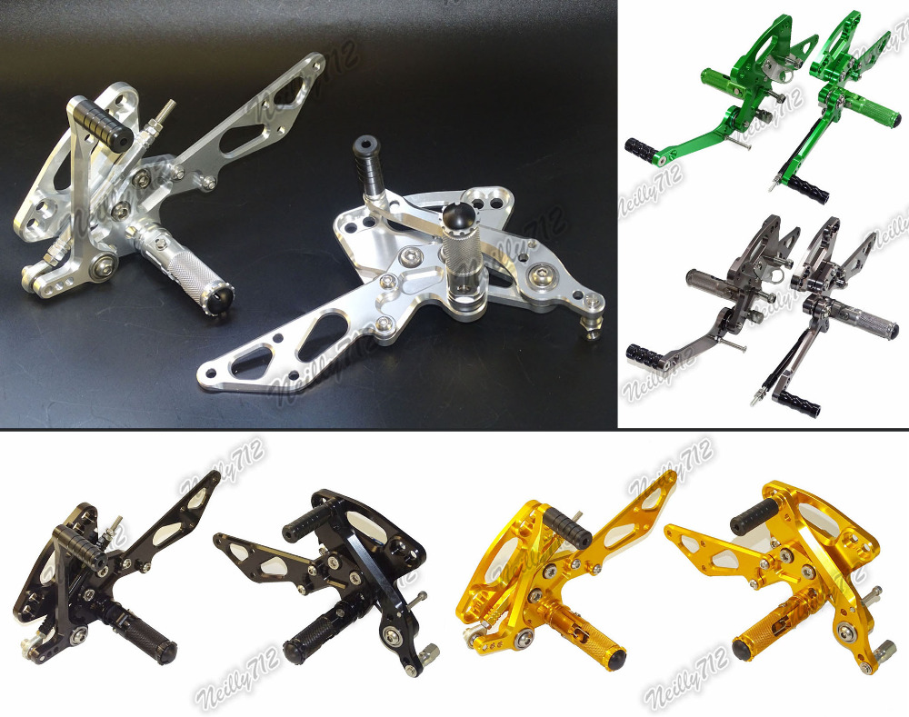 Motorcycle Adjustable Rider Rear Sets Rearset Footrest Foot Fold Rest Pegs For KAWASAKI Z1000 Z100SX Ninja1000 2011 2012-2016 ironwalls led h7 9005 car headlight bulbs 72w cree csp chips 6500k 8000lm single beam all in one front fog light dc 12 24v