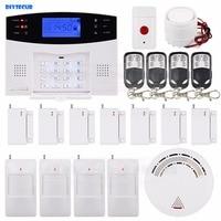 DIYSECUR 99 Wireless Zones GSM Home Alarm System 850/900/1800/1900MHz + Panic Button Smoke