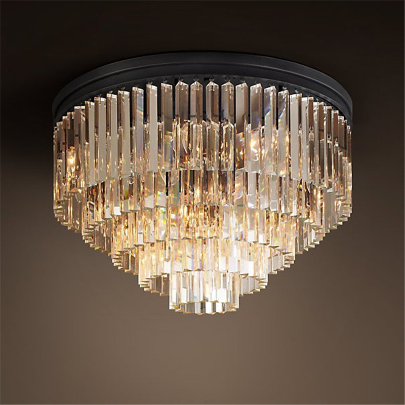 Simple Round European crystal chandelier lighting atmosphere living room dining room   villas  engineering lights european restaurant crystal chandelier simple ball bedroom modern simple led creative living room lighting dining room