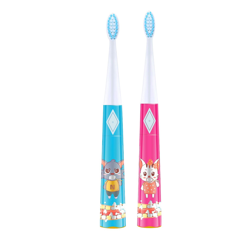 Children sonic Electric Toothbrush ;Cartoon electric toothbrush,4 brush head configuration ultra soft children kids cartoon toothbrush dental health massage 1 replaceable head outdoor travel silicone retractable folding