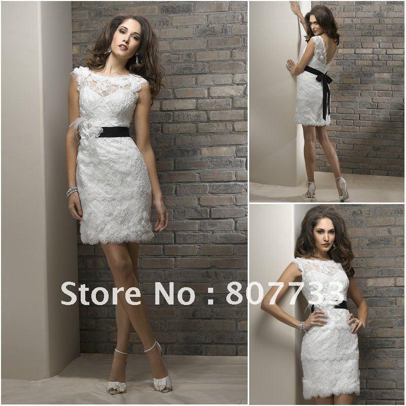 6eeff05b60eb0 Free Shipping!!!Gorgeous lace fabric elegant cap sleeves open back sexy  short wedding dresses-in Wedding Dresses from Weddings   Events on  Aliexpress.com ...