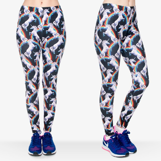 3D Printing Rainbow Unicorn Slim Legging