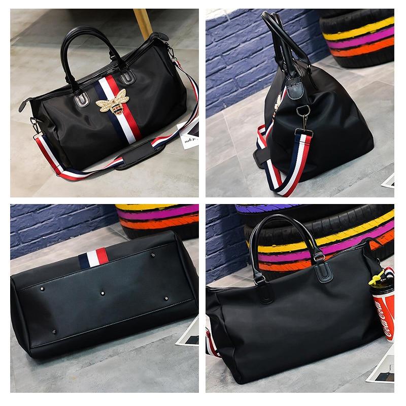 Fashion Bee Decorative Short Distance Travel Bag Ladies Hand Bag Nylon Waterproof Large Capacity Men Fitness Shoulder Bag