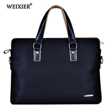 WEIXIER 2019 Hot New Fine Mens Oxford Soft Material High-End Business People Solid Color Handbag Classic Design Simple