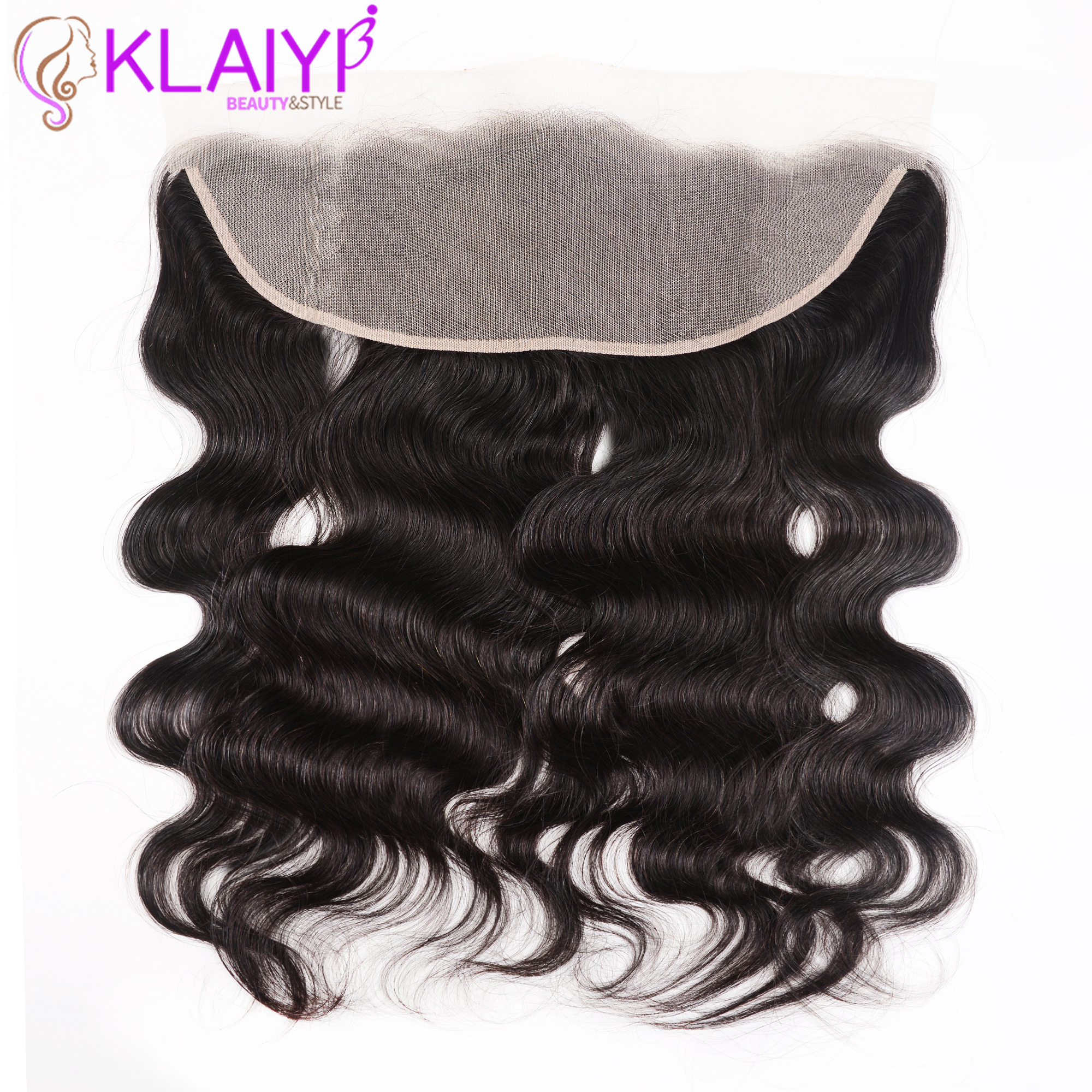 Klaiyi Hair 13x4 Transparent Lace Frontal Closure Brazilian Body Wave Frontal Remy Human Hair Ear To Ear Frontal Free Part(China)