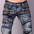 2016 Nueva Llegada Caliente Diseñador Del Mens Anthony K Amor Vaqueros del Dril de algodón Superior ventas Pantalones Pantalón de Moda Clubwear W30 32 34 36 38 L32 J009