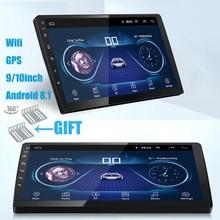 9/10 дюймов Android 8,1 универсальный автомобильный Радио 2 din android автомобильный Радио dvd-плеер gps навигация wifi Bluetooth MP5 плеер задний CAM
