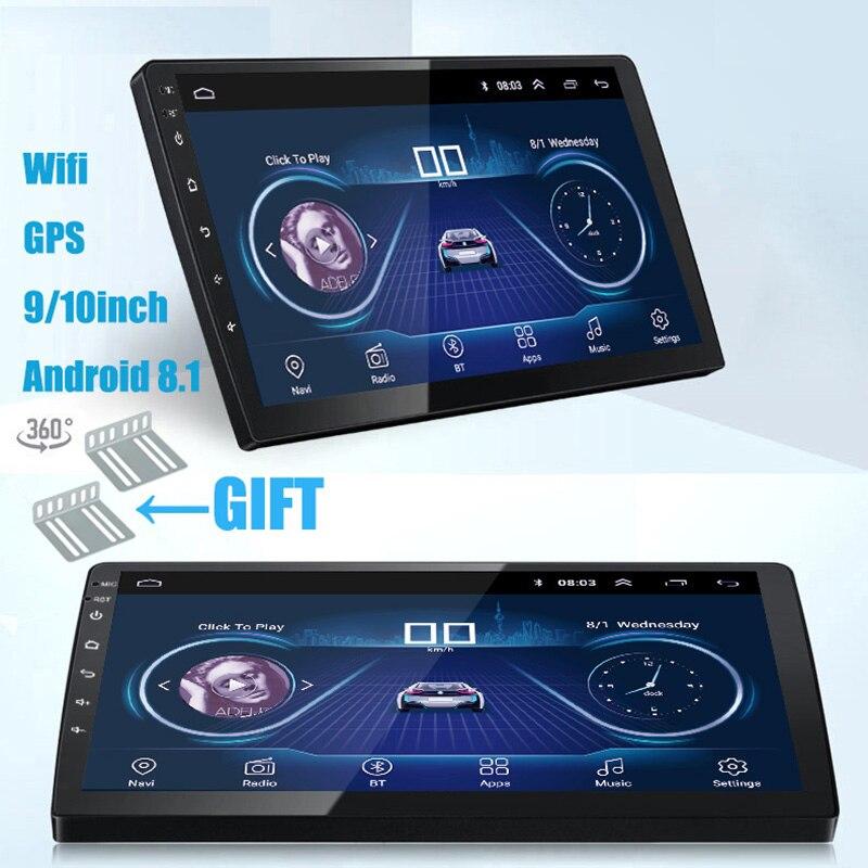 9/10 polegada Android 8.1 universal 2 Rádio Do Carro din android rádio do carro DVD Player NAVEGAÇÃO GPS Bluetooth WI-FI MP5 Jogador CAM traseira