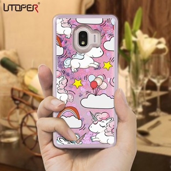 UTOPER Case For Samsung Galaxy J2 Pro 2018 Case Liquid Unicorn Pink Capa For Samsung J2 Pro 2018 Case For Smaung Galaxy J250F Apple AirPods