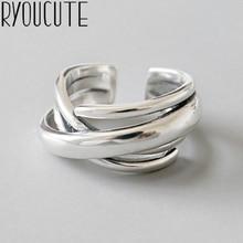 Богемное Винтажное кольцо из стерлингового серебра 925 пробы с геометрическим орнаментом для женщин, обручальные регулируемые античные массивные кольца Anillos