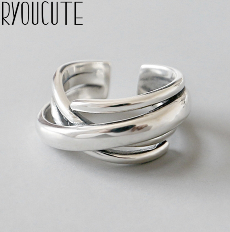 Bohemian Vintage Silver Color Geometric Irregular Rings for Women Wedding Adjustable Antique Statement Rings Anillos