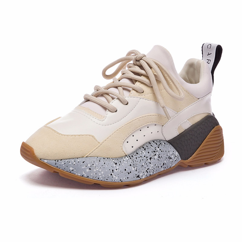 Polychromatic Shoes Platform Shoes Fashion Sneakers Lace-Up Size 35~40 Women's Shoes Casual Shoes