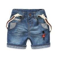 2016 yaz Kore asker pantolon orijinal tek marka çocuk giyim erkek kot şort 2-7y için Ücretsiz Kargo 15262107