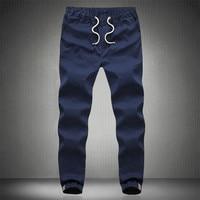 Plus Size 5XL Elastic Waist Casual Slim Fit Harem Jogger Pants Men Chinos Army Military Khaki