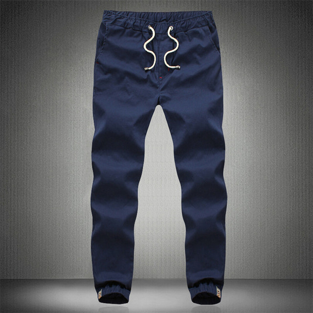 Más el Tamaño 5XL Cintura Elástico Casual Slim Fit Harem Basculador Pantalones Hombres Pantalones Militares Del Ejército de Color Caqui Pantalones Harajuku 2016 Primavera