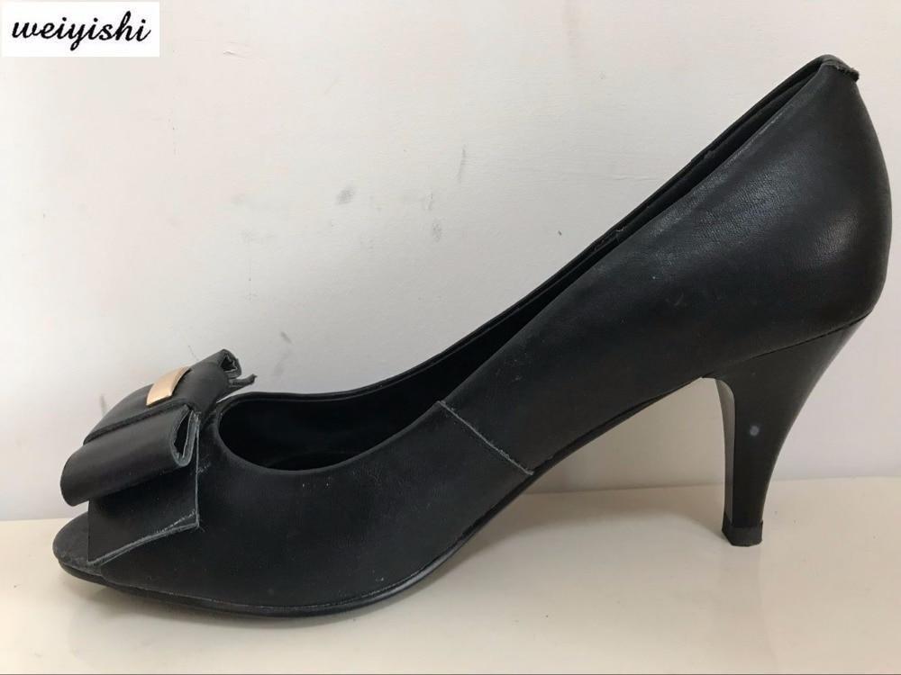 2018 donne di nuovo modo shoes. pattini della signora, weiyishi marca 040-in Pumps da donna da Scarpe su  Gruppo 1