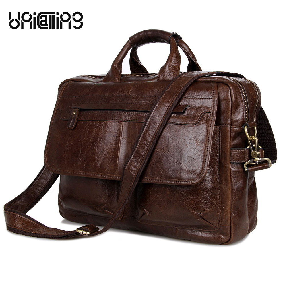 Brand quality men leather bag noble fashion genuine leather men bag trendy men real leather business handbag laptop bag 15 inch messenger bag men leather unicalling fashion quality cowhide genuine leather men bag casual men leather bag laptop bag 14 inch