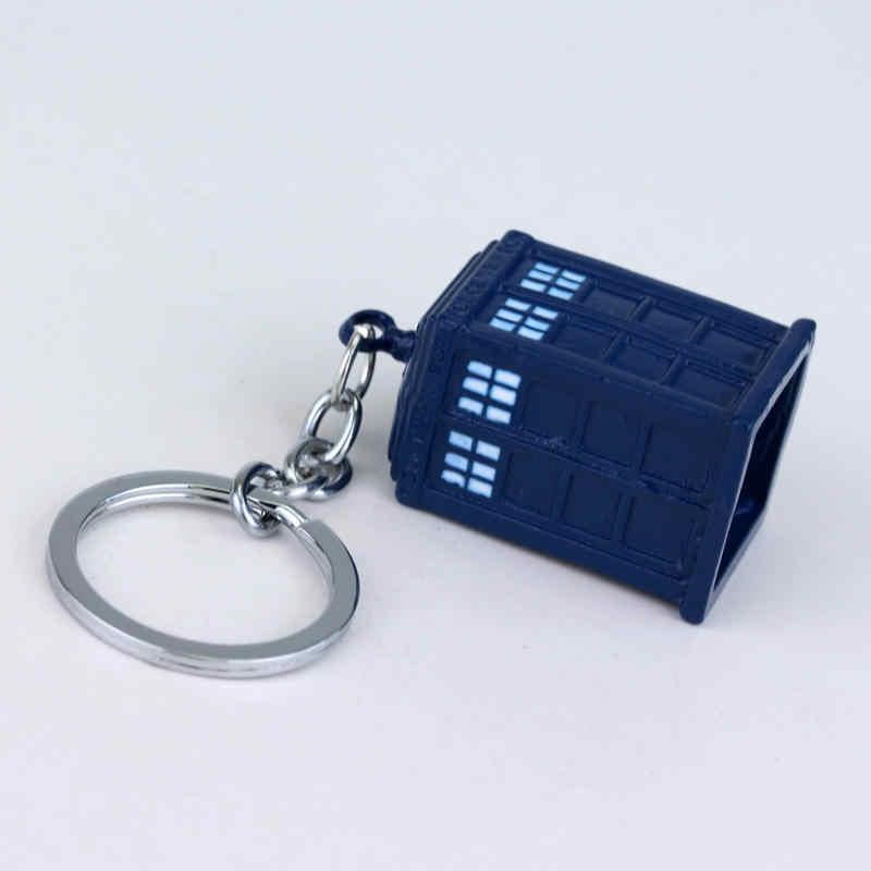 Hot Menjual Dokter Siapa Gantungan Kunci untuk Wanita dan Pria Warna Biru Dalek Tardis Police Box Gantungan Kunci Metal Baru gantungan Kunci