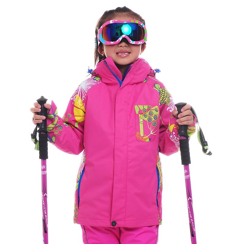 ФОТО New Girls Snowboarding Jackets Twinset Outdoor Skiing 3 in 1 Jacket Girl Warm Coat  Waterproof Kids Children Boy Ski JacketsCJ27