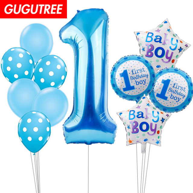 1 Years Old Happy Birthday Balloons for Party Decoration, Foil Banners Paper Decoration PD-68