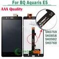 Для BQ Aquaris E5 ЖК-Экран Сенсорный Дигитайзер Ассамблеи AAA Качество Черный 5K0858 5k0759 5K0982 5k0760 Версии