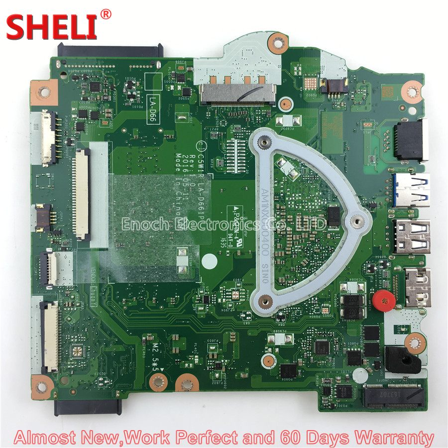NBGKY11001 NB.GKY11.001 Laptop Motherboard For Acer Aspire ES1-523 Series C5W1R LA-D661P 2